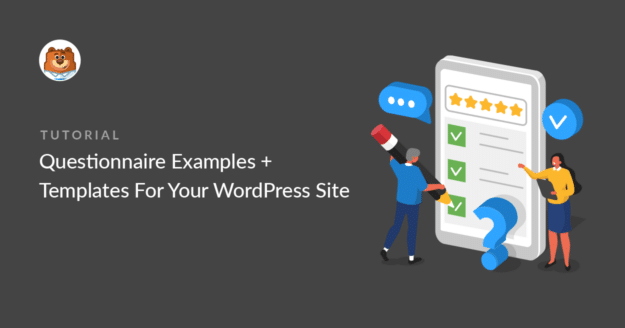 WordPress questionnaire examples and templates