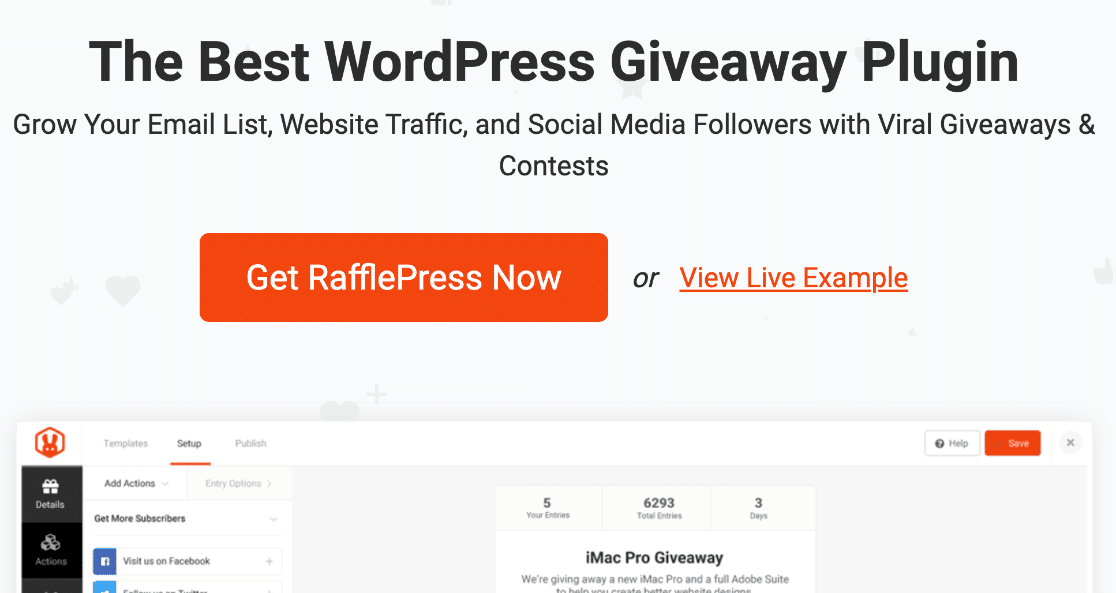 RafflePress refer-a-friend and giveaway plugin