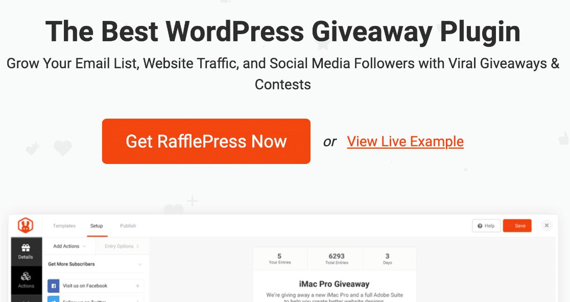 RafflePress refer-a-friend and giveaway plugin