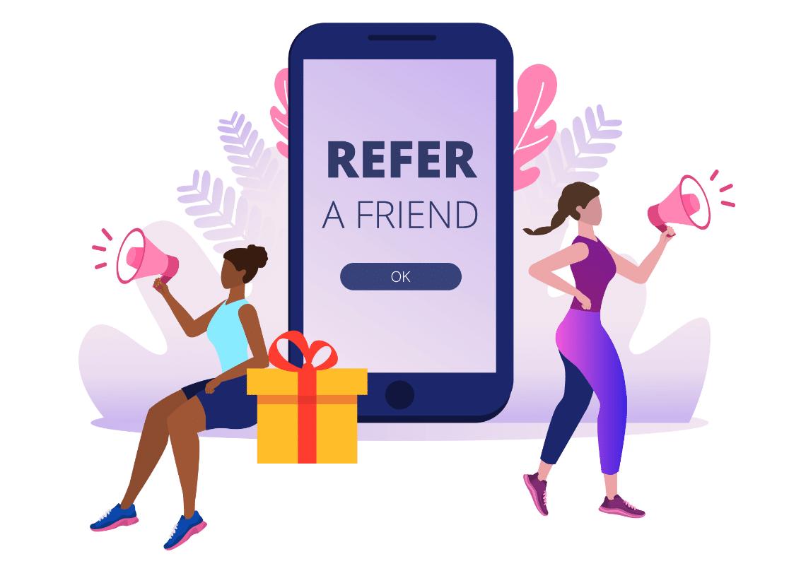 Refer-a-friend program on website