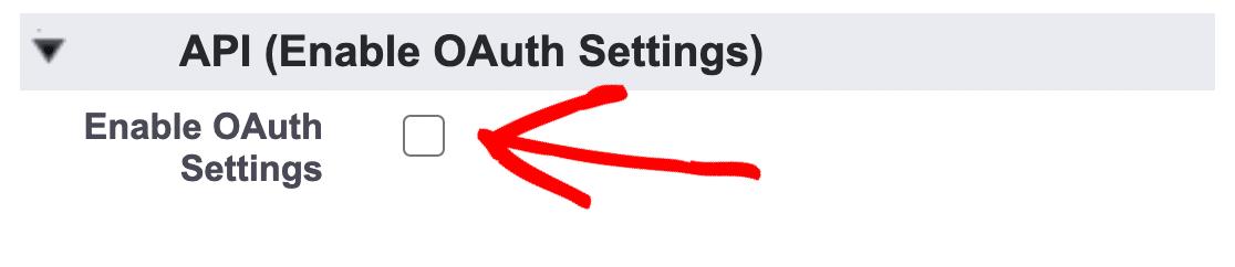 Enable OAuth for WordPress Salesforce integration