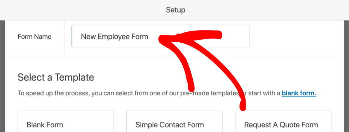 Type the name for your Slack auto invite form