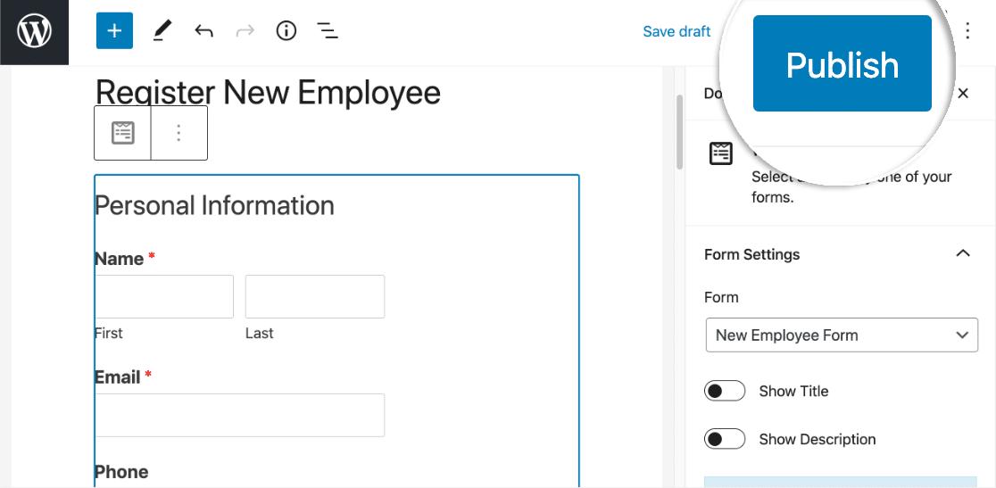 Publish Slack Auto Invite form