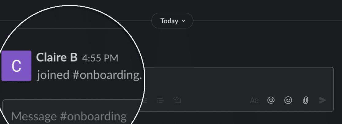 Result of Slack auto invite from WordPress form