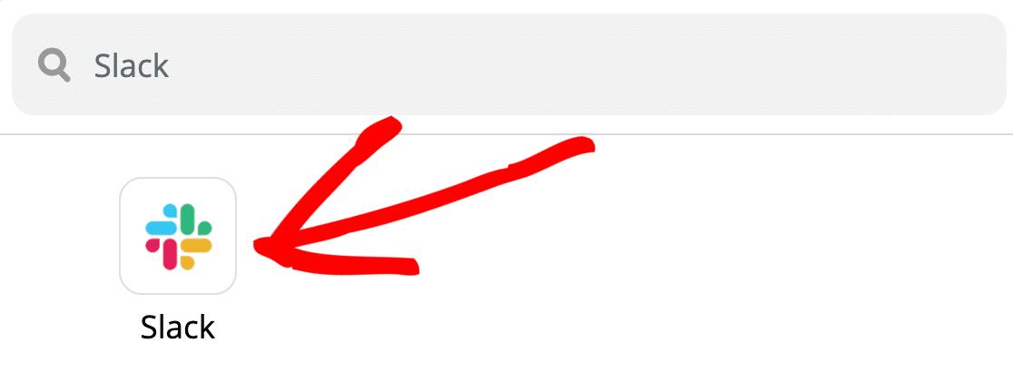 Select Slack in final step of Zap