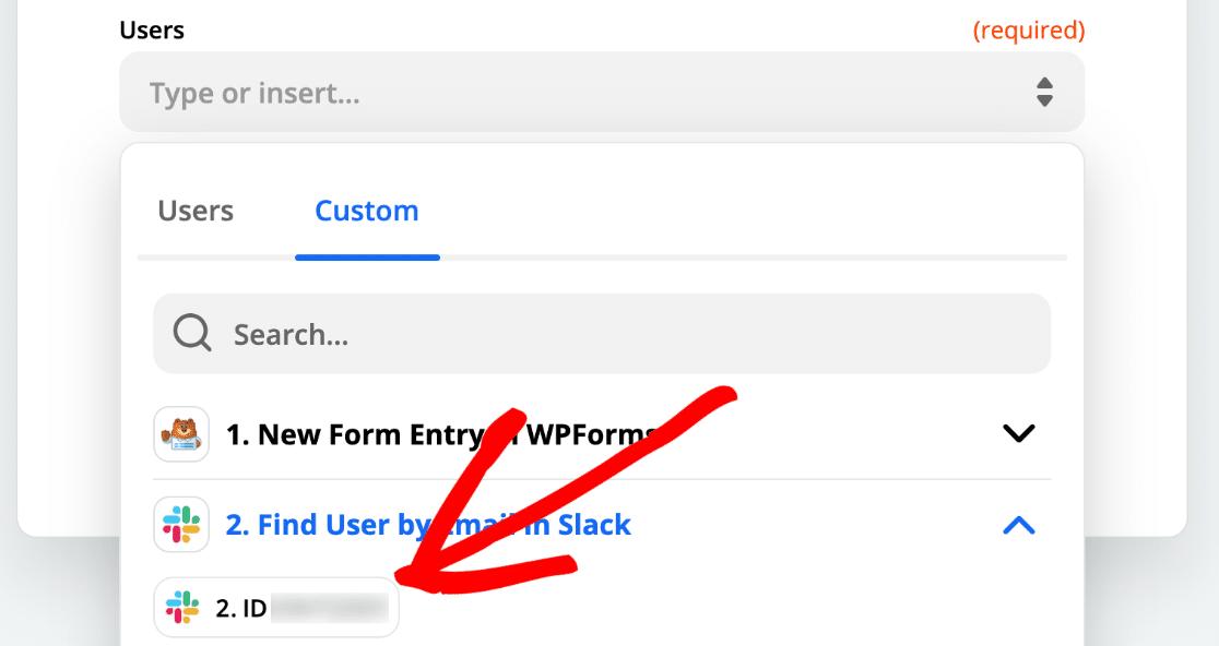 Slack search result