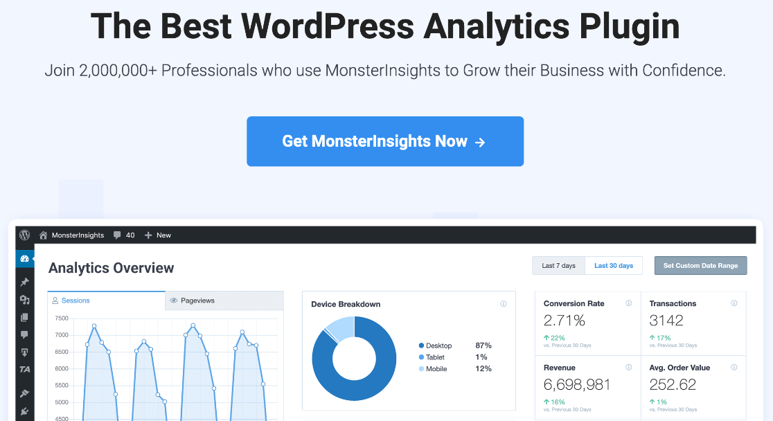MonsterInsights WordPress link tracking and analytics plugin