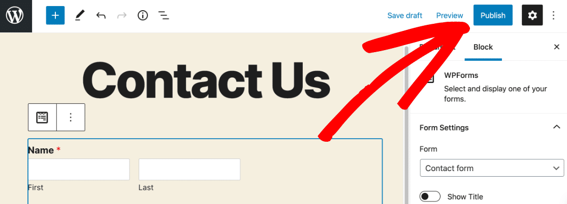 Publish WordPress Salesforce form