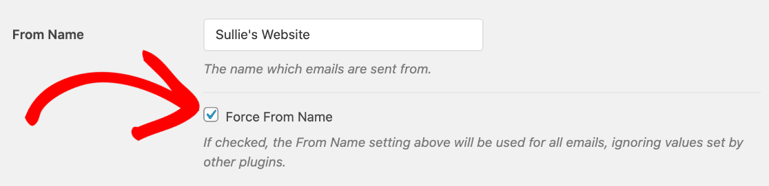 Set From Name in WP Mail SMTP