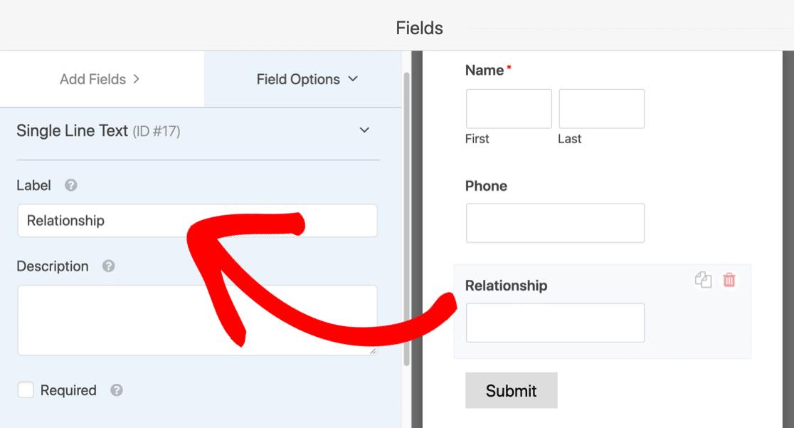 Click a field in the Slack Auto Invite form to edit it