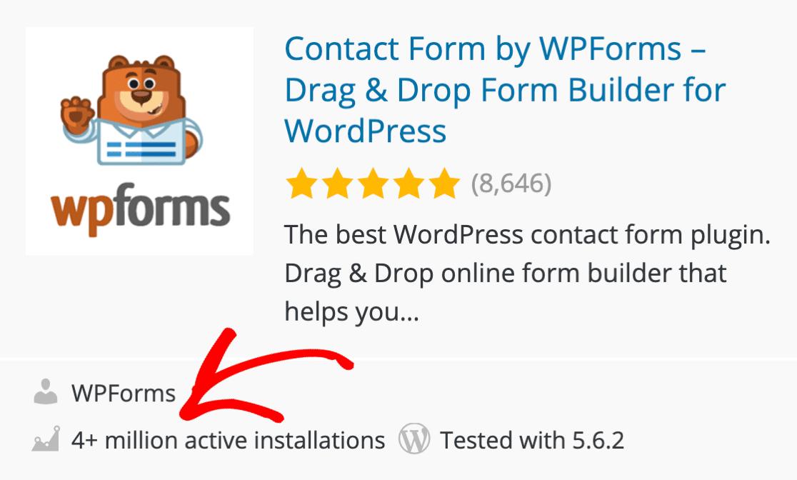 4 million WPForms installations