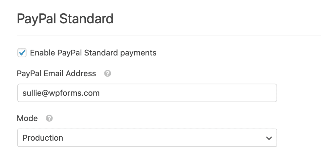 Set production mode for PayPal