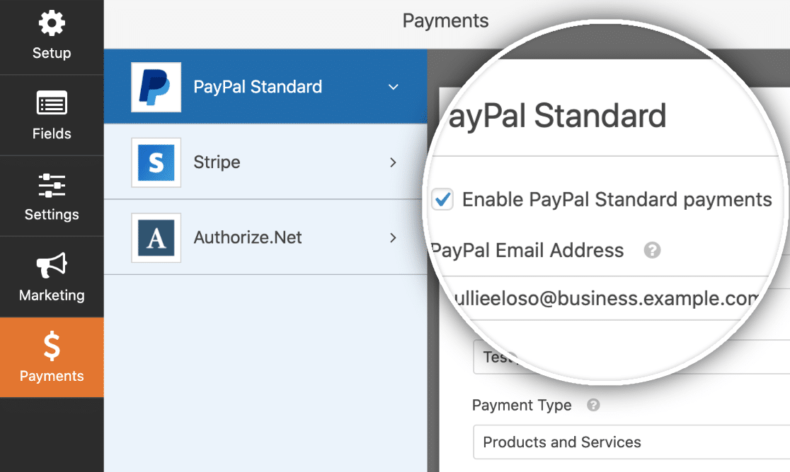 PayPal Standard Payments