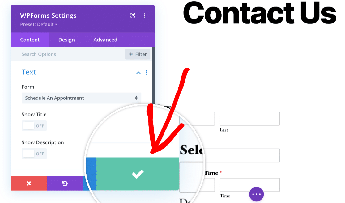 Save Form in Divi