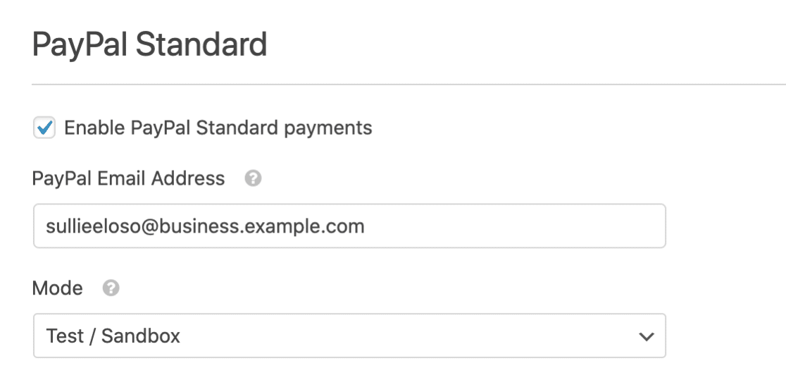 Set Up PayPal Standard