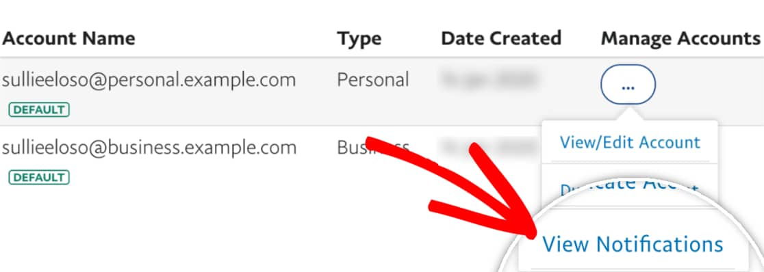 View Notifications in PayPal sandbox