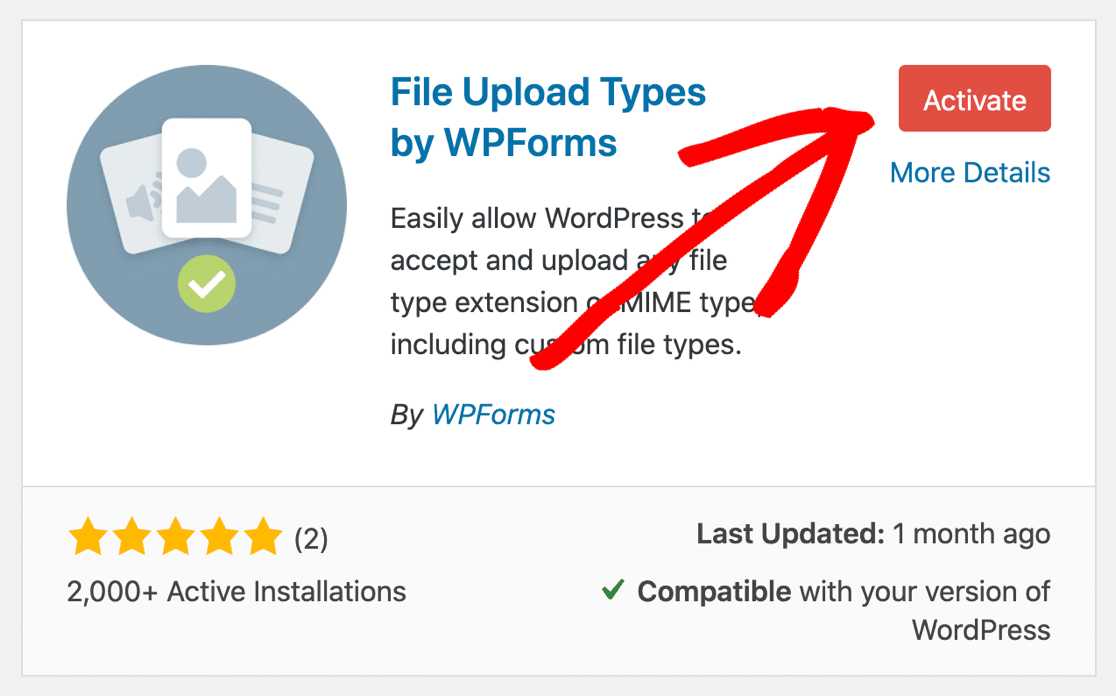 Activate File Upload Types plugin to fix 'file type is not permitted' error