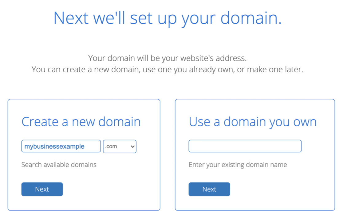 Free domain name with Bluehost