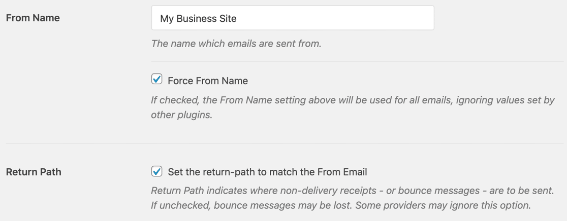 Force From Name in Zoho Mail SMTP