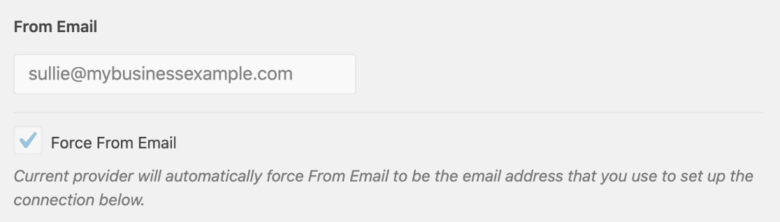 From Email grayed out in WP Mail SMTP