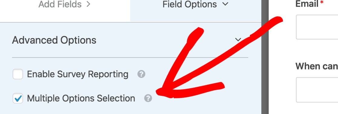 Enable Multiple Options Selection to make a multi select dropdown