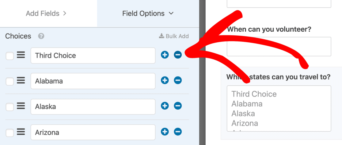 Remove default answers from multi select dropdown