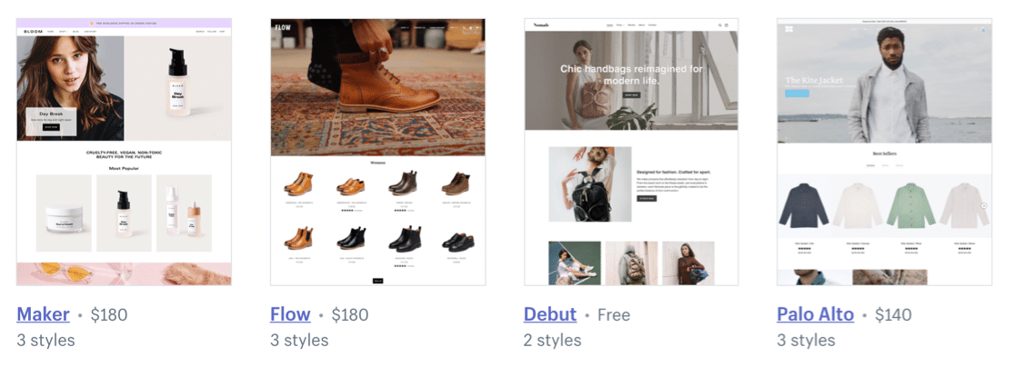 Free and paid Shopify themes for your online store