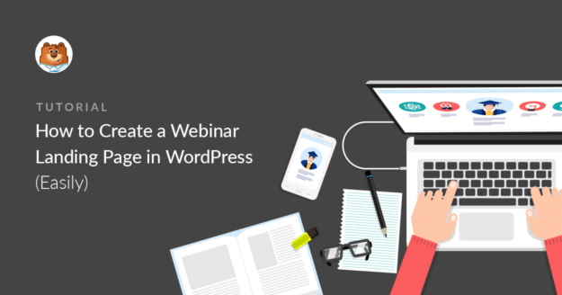 WordPress webinar landing page
