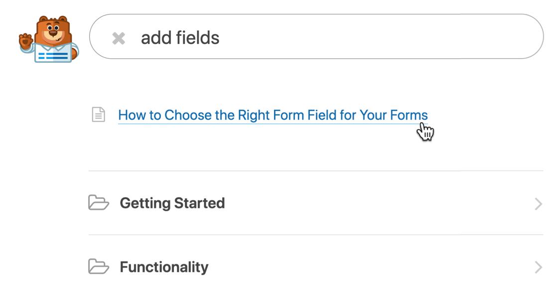 WPForms form builder documentation
