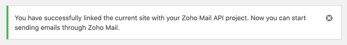 Linked WordPress site with Zoho Mail SMTP project