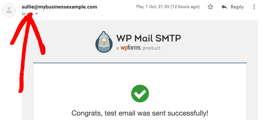 Zoho Mail SMTP test email