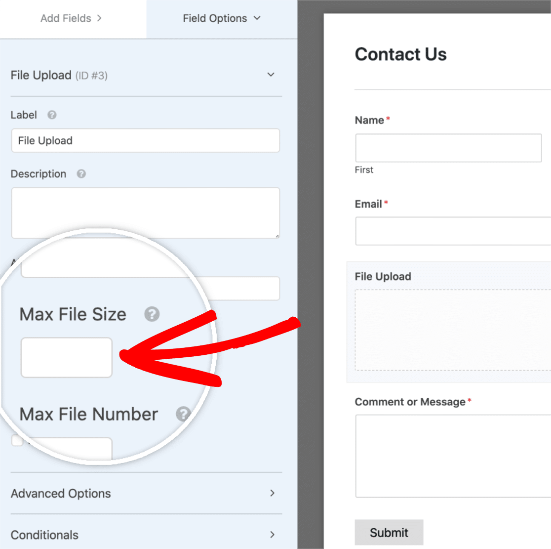 Max File Size Setting
