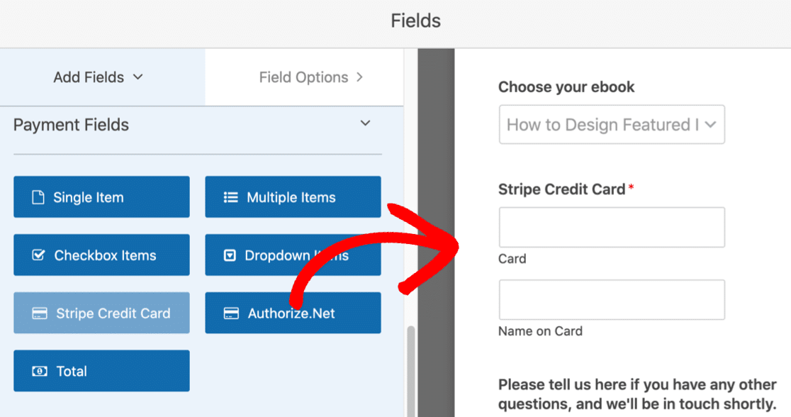 Add payment field to download form