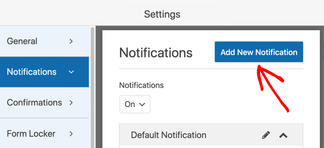 Add new notification to college application form