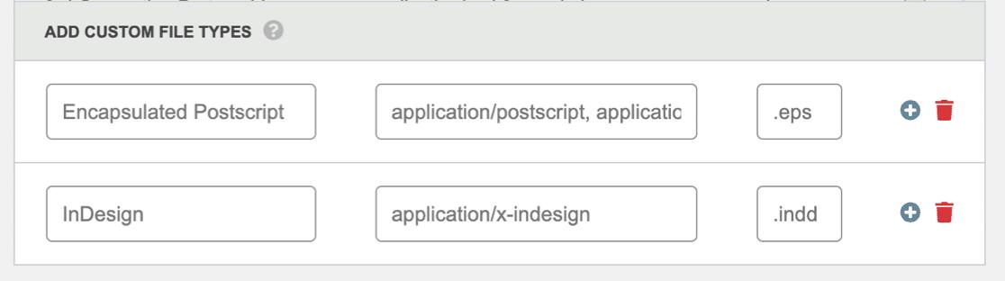 Allow Adobe InDesign file type in WordPress