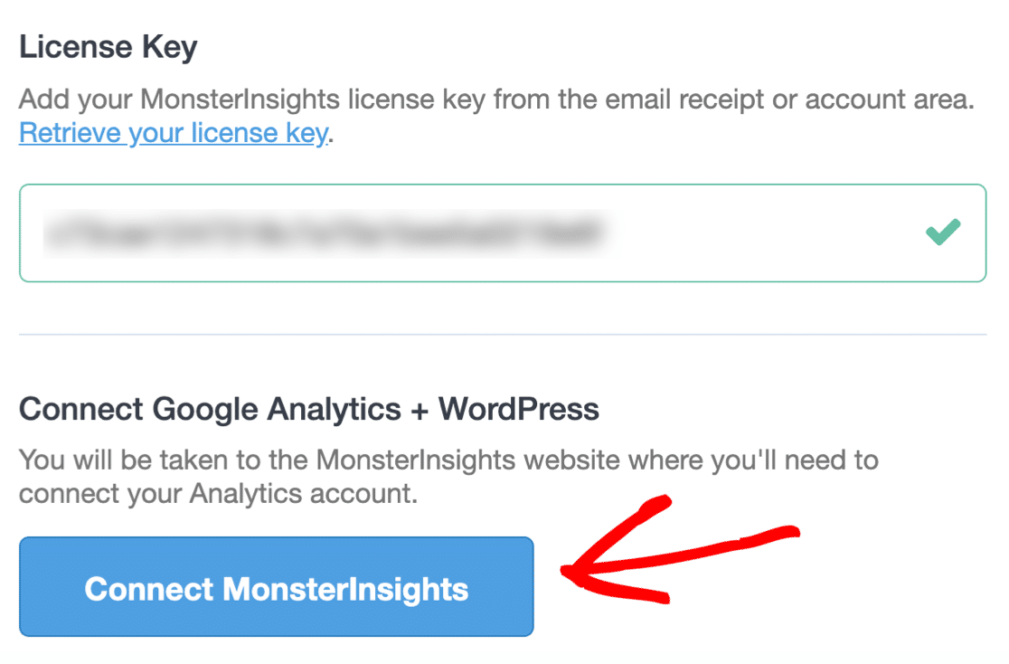 Connect MonsterInsights to track button clicks in WordPress
