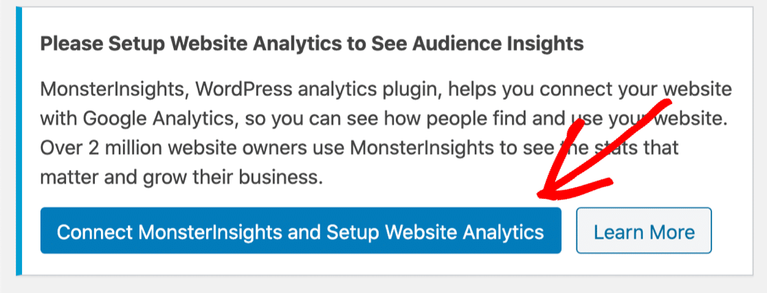 Connect MonsterInsights for button tracking