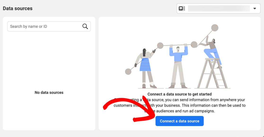 Connect a Facebook Pixel data source
