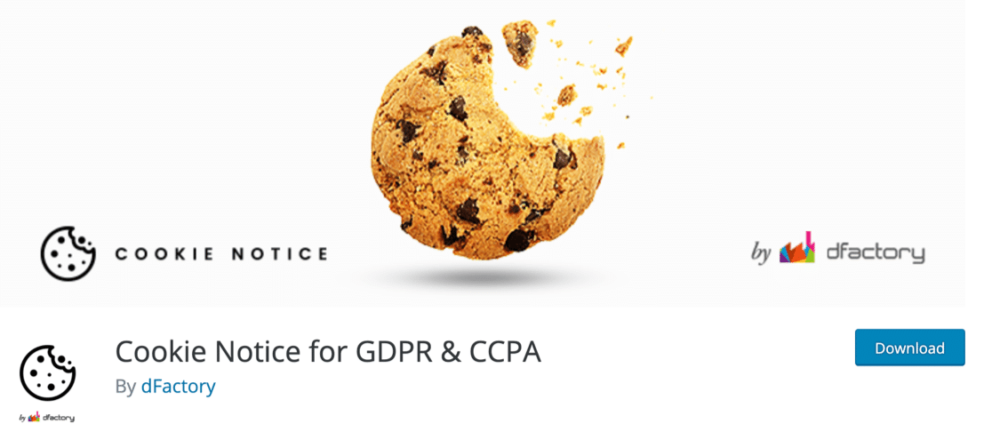 WordPress Cookie Notice GDPR plugin