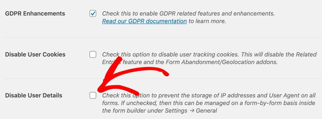 Disable user agent and IP address collection for GDPR