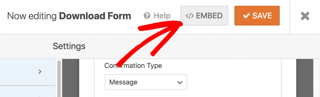 Embed download form on your WordPress website