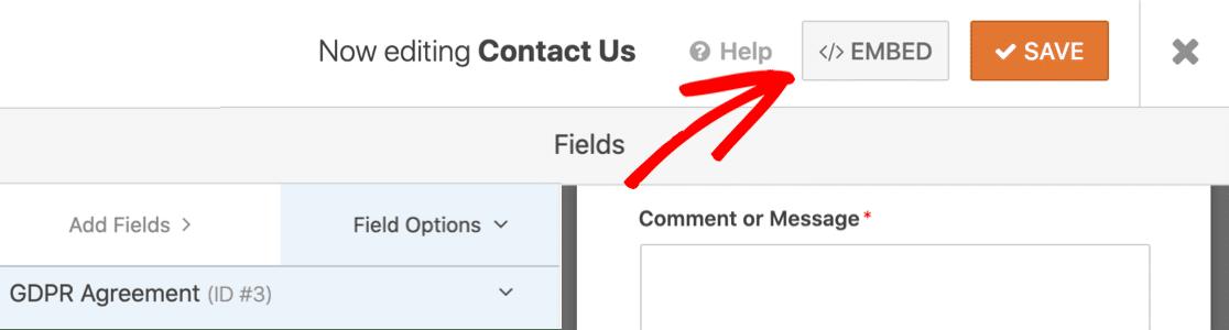 Embed GDPR compliant form in WordPress