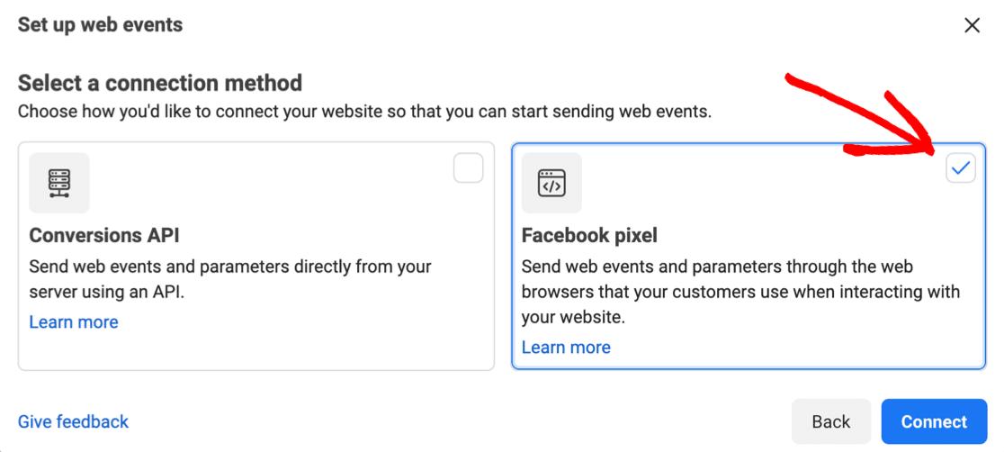 Connect a Facebook Pixel
