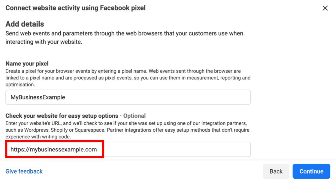 Facebook Pixel easy setup