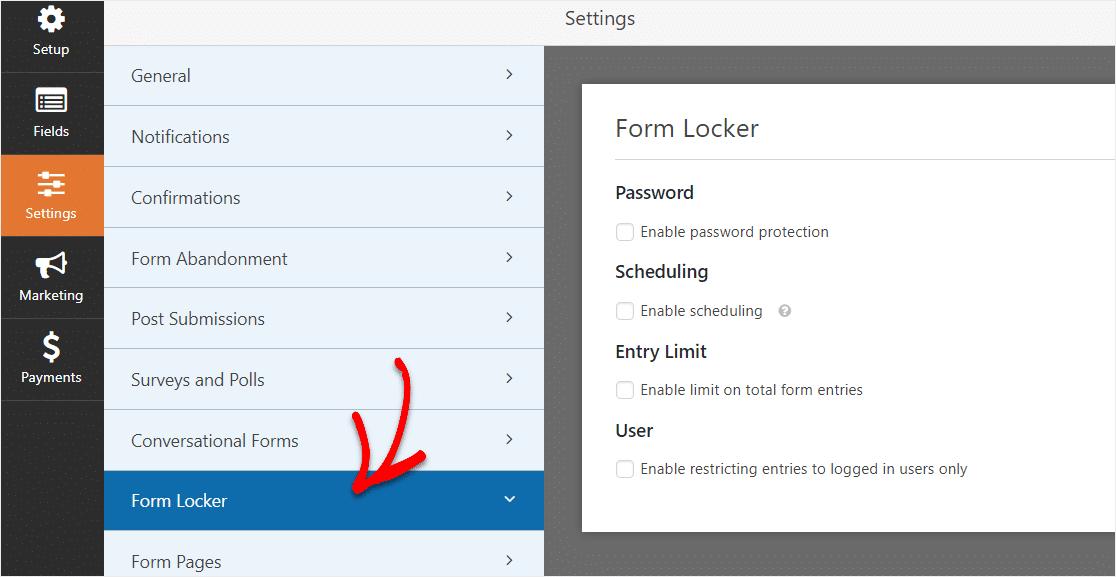 form locker addon to college application form