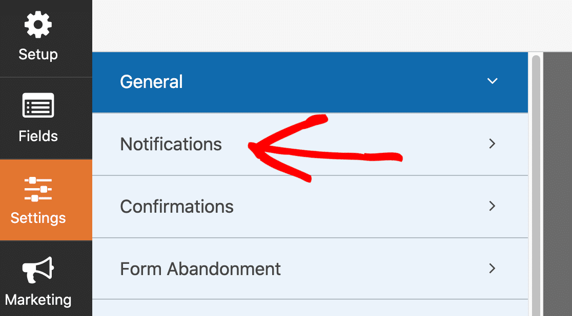 Digital download form notifications
