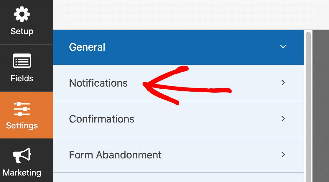 Digital download form notifications