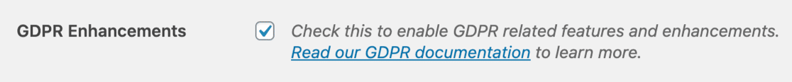 Enable GDPR agreement form settings