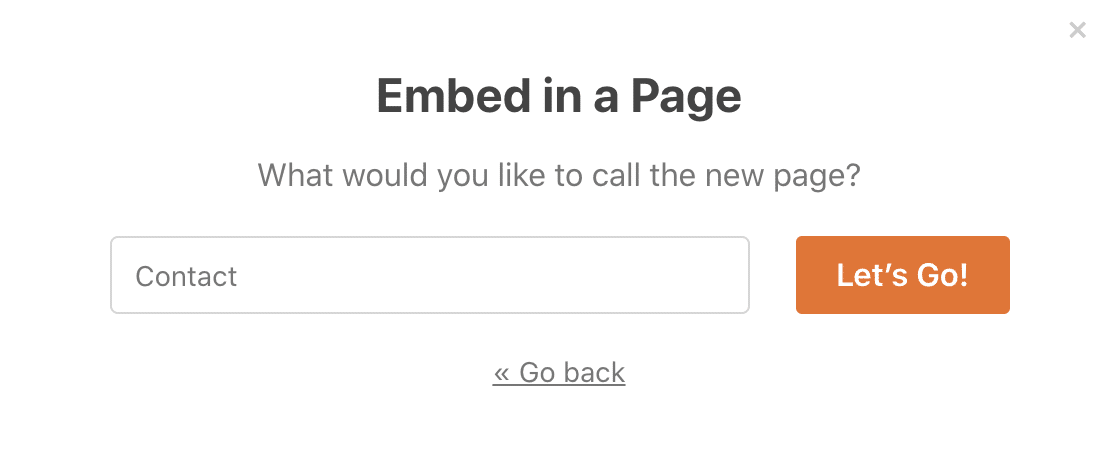 Name your contact page