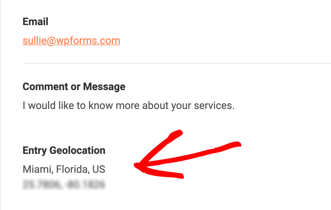 WPForms Geolocation in notification email